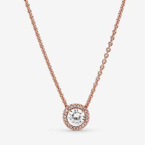 💝Pandora Round Sparkle Halo Necklace 17.7inch
